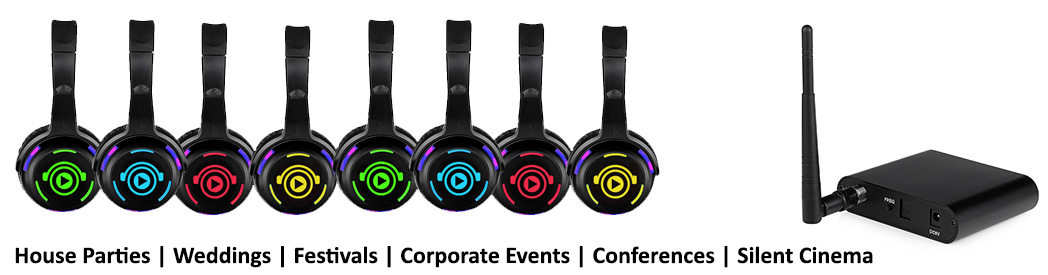 Image of Silent Disco wireless headphones