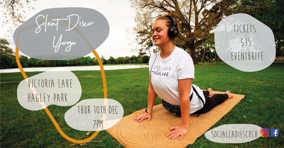Christchurch's FIRST Sunset Silent Disco Yoga in Hagley Park