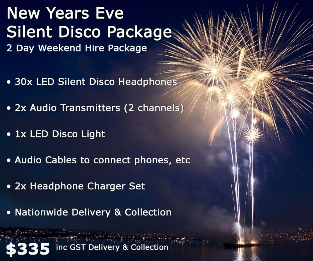 New Years Eve Silent Disco Hire